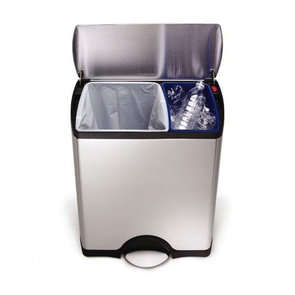 Odpadkový kôš na triedený odpad simplehuman  30/16 l