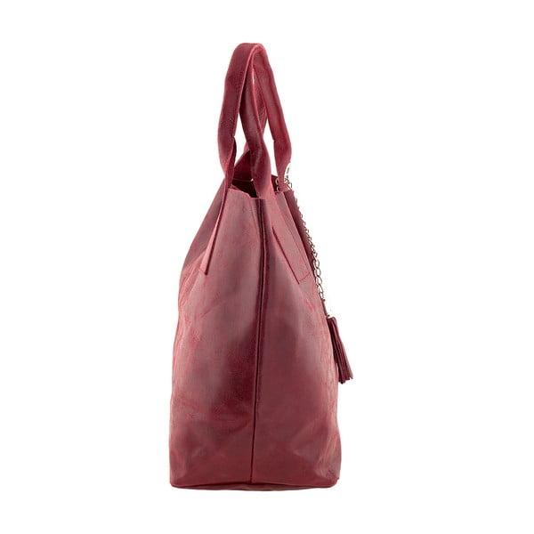 Červená kožená kabelka Ore Diece Laura