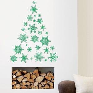 Samolepka 30 Christmas Green Flakes