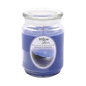 Vonná sviečka v skle zo sojového vosku s vôňou semiša a santaálového dreva Candle-Lite, doba horenia až 115 hodín