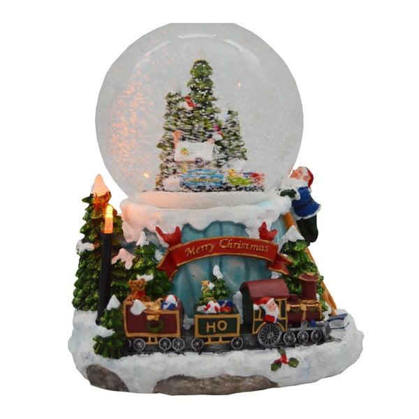Hrajúca snežná guľa Ewax Snowy Train