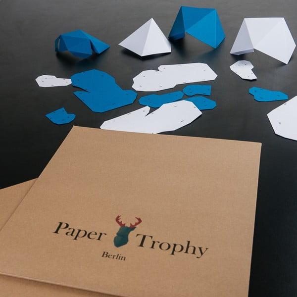Papierová trofej Slon, ružovo-biely