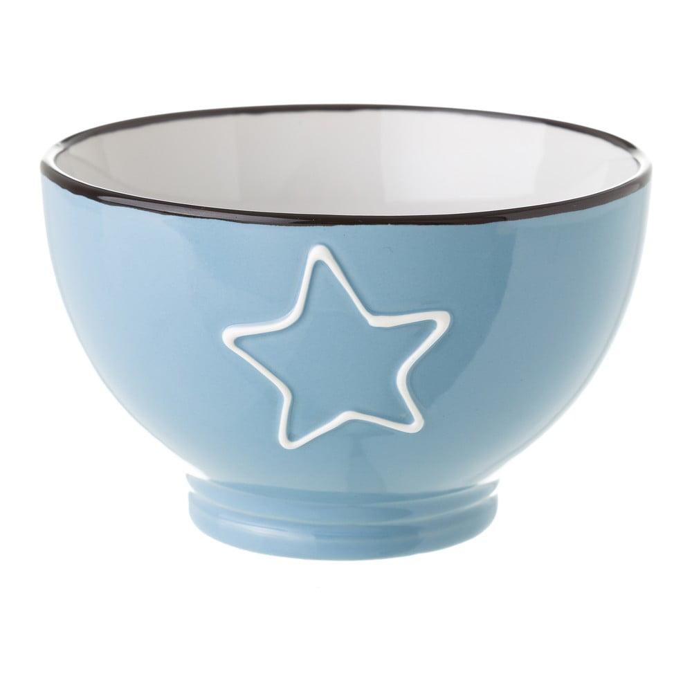 Modrá keramická miska Unimasa Star, 580 ml