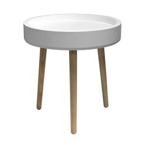 Odkladací stolík Pod, biely