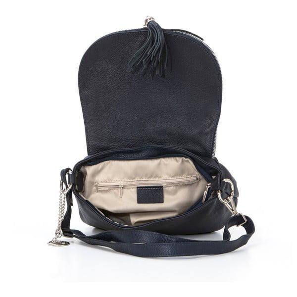 Kožená kabelka Paolo, tmavo modrá