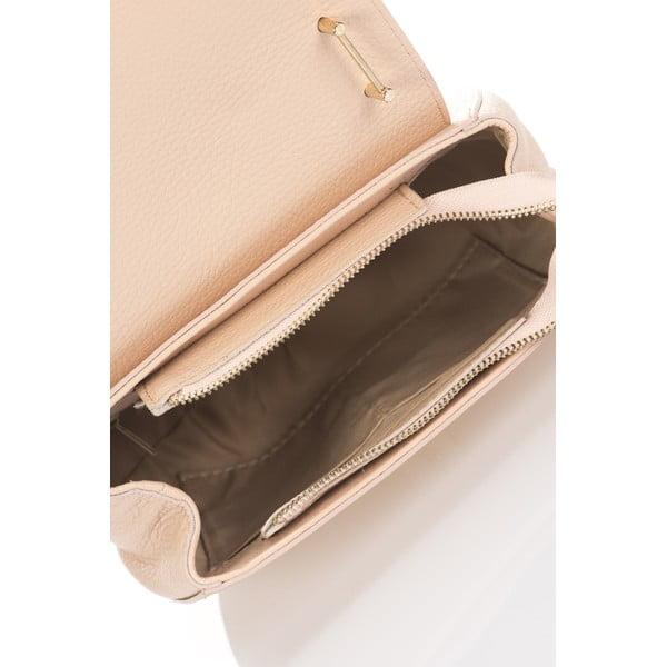 Ružová kožená kabelka Giorgio Costa Locker