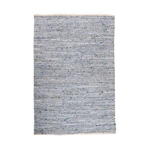 Denimový koberec prepletený kožou Atlas Blue/Ivory, 160x230 cm