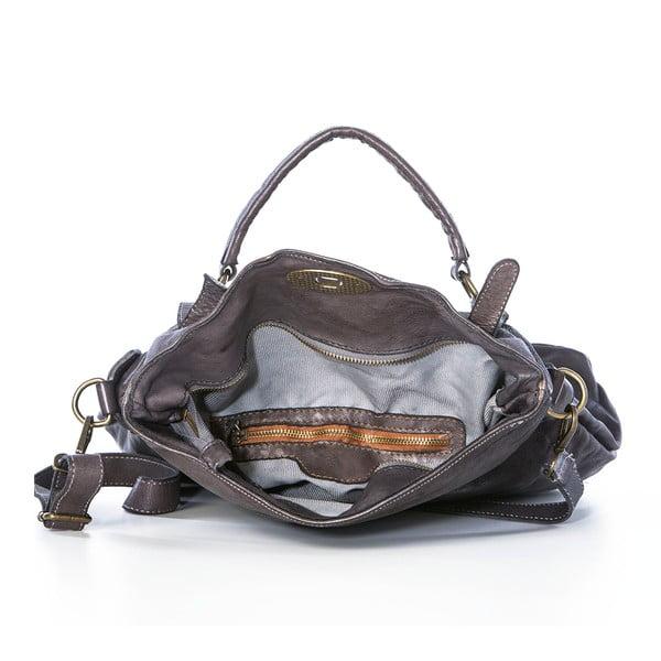 Sivá kožená kabelka Federica Bassi Rana