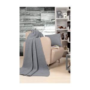 Set sivého plédu a vankúša Kate Louise Tricot Blanket Set Hanzade