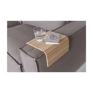 Hnedá flexibilná drevená podrúčka na pohovku WOOOD Tray