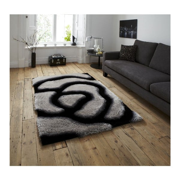 Koberec Noble House Black Grey, 150x230 cm