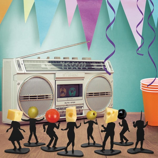 Sada 16 párty napichovátok Fred & Friends Boogie Bites