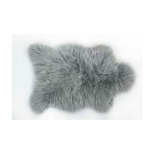 Kožušinový koberec Apolena, 50×70cm, sivý