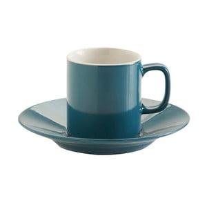 Modrý hrnček s tanierikom Price & Kensington Teal Espresso