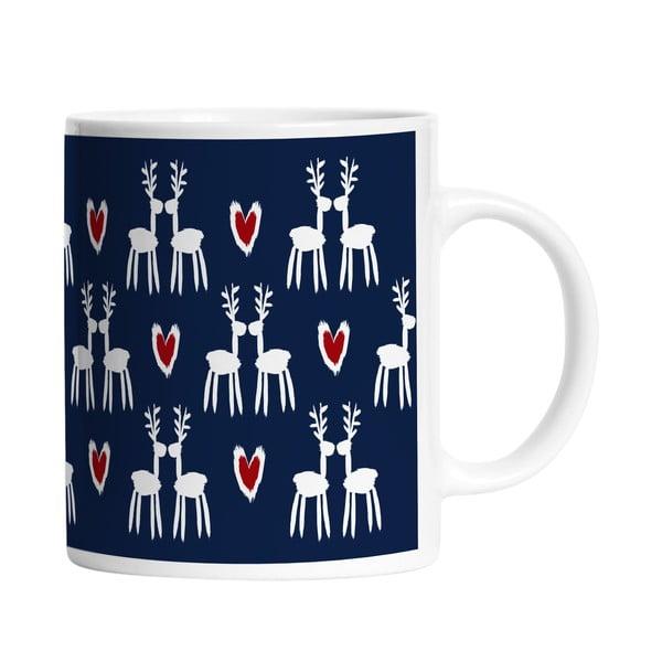 Keramický hrnček Deer Love, 330 ml