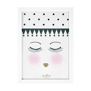 Obraz Miss Étoile Eyes And Dots,25x33cm