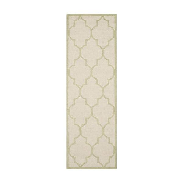 Vlnený koberec Everly Cream, 76x243 cm