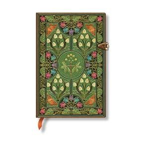 Linkovaný zápisník s tvrdou väzbou Paperblanks Poetry in Bloom, 9,5×14 cm