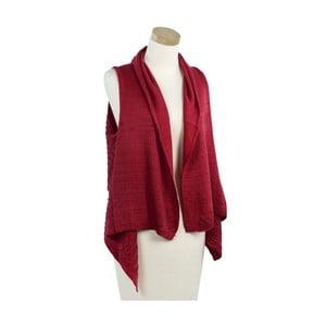 Červená pletená vestička Ginny