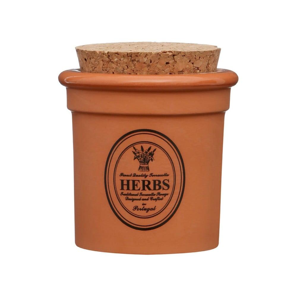 Dóza z terakoty Premier Housewares Herbs, ⌀ 7 x 9 cm