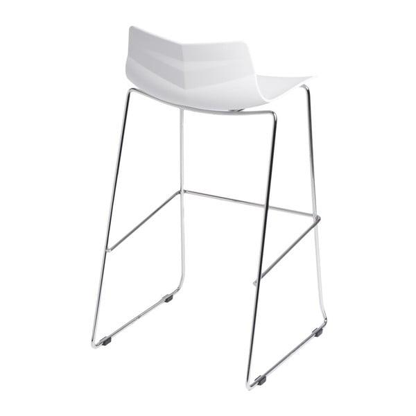 Barová stolička D2 Leaf, biela