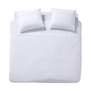 Biele bavlnené obliečky na dvojlôžko Cinderella Simone White, 200 x 200 cm