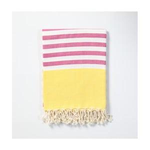 Hammam osuška z ručne tkanej bavlny ZFK Sigrun, 170 x 100 cm