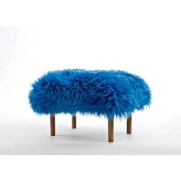 Stolička z ovčej kože Bethan Cornflower Blue