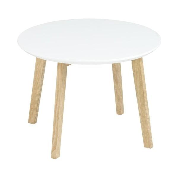 Odkladací stolík Molina ⌀50 cm, biely
