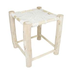 Biela drevená stolička HF Living Star, 40 × 40 cm