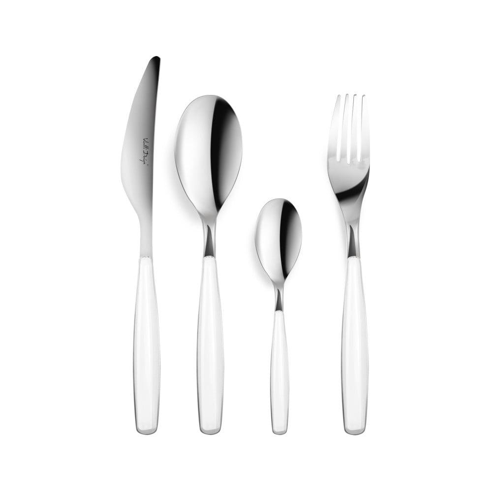 24-dielna sada príborov s bielou rukoväťou Vialli Design London