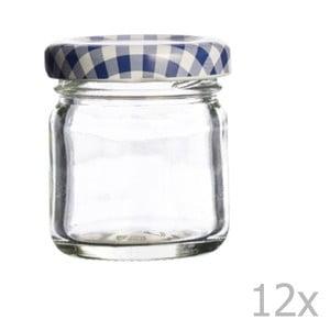 Sada 12 zaváracích pohárov Kilner Round, 43 ml