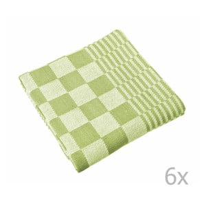 Sada 6 zelených utierok Tiseco Home Studio Mineur, 65 × 65 cm
