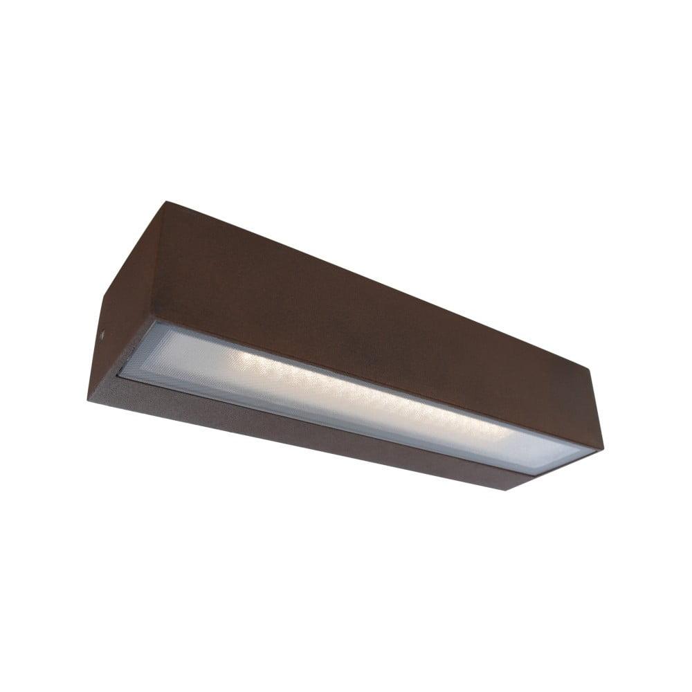 Tmavohnedé nástenné svietidlo SULION Tisa, 22 × 6,9 cm
