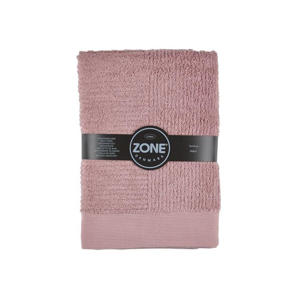 Ružová bavlnená osuška Zone Classic, 70 × 140 cm