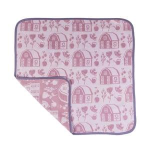 Ružovo-fialová detská deka Sebra Farm Girl
