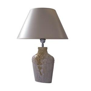 Stolová lampa Zdobená krémová