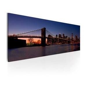 Obraz na plátne Artgeist Brooklyn Bridge, 120x40cm