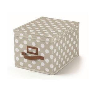 Béžový úložný box s vekom Cosatto Jolie, 25x40cm