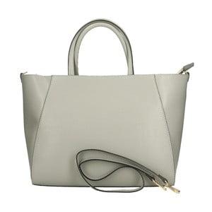 Sivá kožená kabelka Chicca Borse Makador