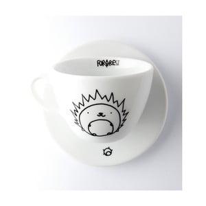 Hrnček na kávu s tanierikom FOR.REST Hedgehog, 200 ml