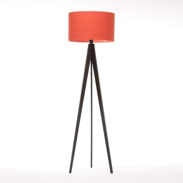 Stojacia lampa Artist Red Felt/Black Birch, 125x42 cm