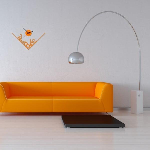 Nástenné hodiny Orange Get Lost