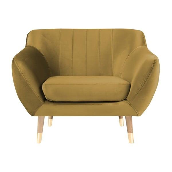 Kreslo v zlatej farbe Mazzini Sofas Benito