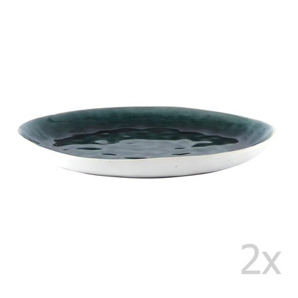 Sada 2 plytkých tanierov Petrol, 27 cm