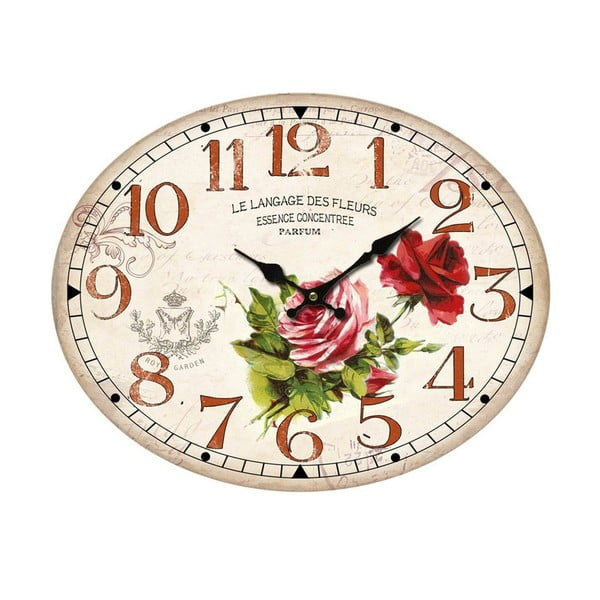 Oválne nástenné hodiny Bolzonella Rosaio
