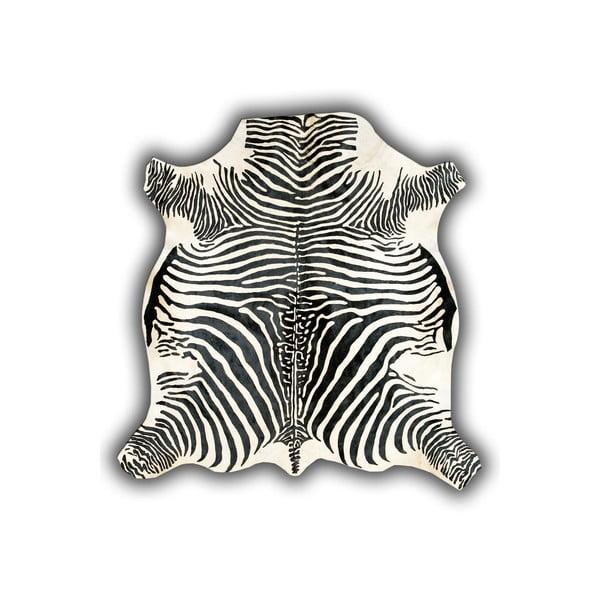 Kožená predložka Normand Cow, 210x220 cm, motív zebry