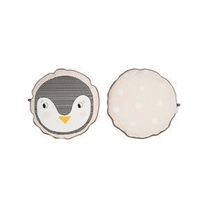 Detský vankúš z organickej bavlny OYOY Penguin, ⌀ 40 cm