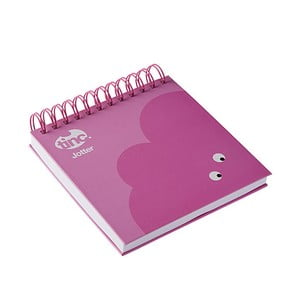 Ružový linajkový zápisník TINC Mallo