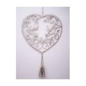 Závesné dekoratívne srdce Doves, 40 cm